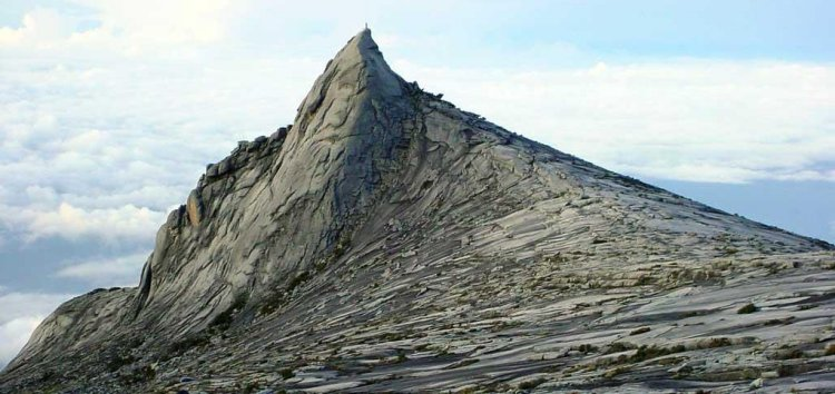 South Peak of Mount Kinabalu in Sabah, East Malaysia