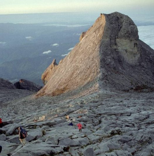 Approach to Summit of Mount Kinabalu ( 4101 metres ) in Sabah, East Malaysia - the highest mountain in SE Asia