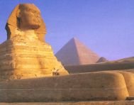 The Sphinx at Cairo, capital city of Egypt
