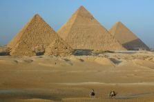The Pyramids at Cairo, capital city of Egypt