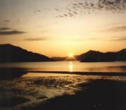 Sunset on Loch Hourn in NW Scotland
