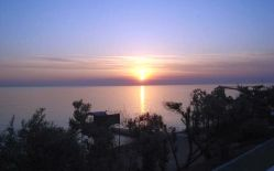 Sunsets on the Black Sea in the Crimea in Ukraine