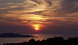 Sunset on Dalmatian Coast of Croatia