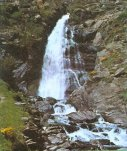 Waterfall in the Pyrenees in Andorra