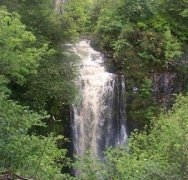 Waterfall on the Island of Arran in Scotland
