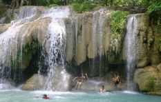 Erawan Waterfall at Kanchanaburi in Northern Thailand