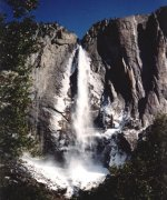 Yosemite Falls in Yosemite Valley, California, USA