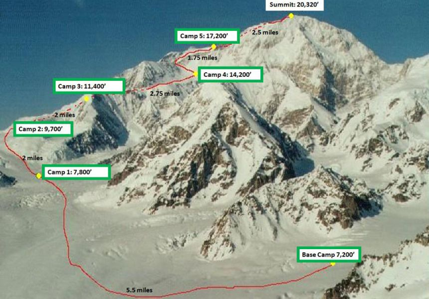 Photo Gallery ascent of Denali Mount Mckinley in Alaska the
