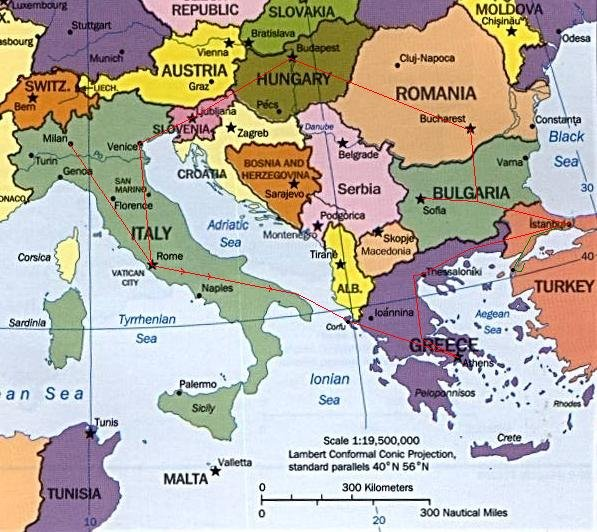 Map Of Italy Greece And Turkey.Map Of The Balkans Slovenia Croatia Bosnia Serbia Macedonia