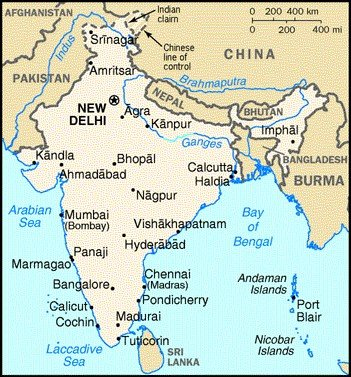 Himalaya India Map.Political And Physical Maps Of India