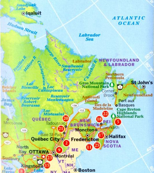 Map Of Canada James Bay.Map Of Canada Showing Major Cities And Mountains