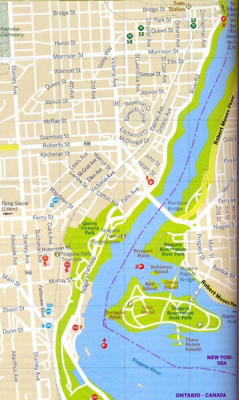 Photographs And Location Map Of The Niagara Horseshoe