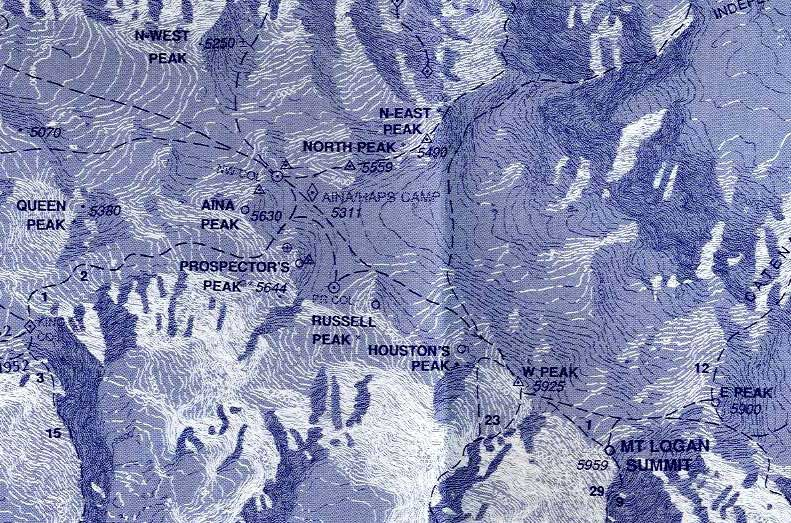 Photographs Information And Maps Of Mount Logan In The