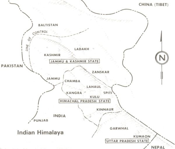 Himalaya India Map.Maps Of The Indian Himalaya
