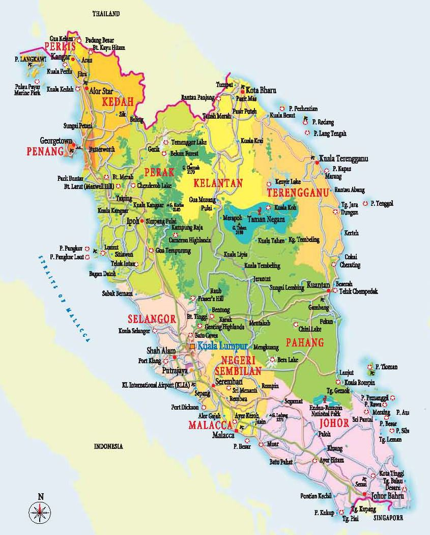Map of peninsular western malaysia gumiabroncs Image collections