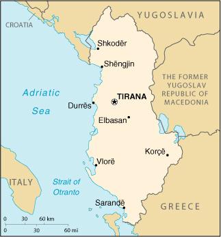 Map of The Balkans: Slovenia, Croatia, Bosnia, Serbia, Macedonia ...