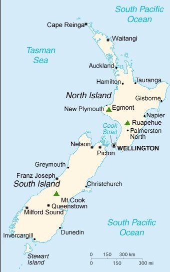 Where Is Wellington New Zealand On The Map.Maps Of New Zealand Auckland Wellington The Capital City