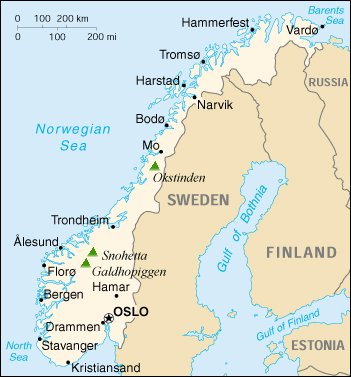 Maps Of Norway And Norwegian Fjords