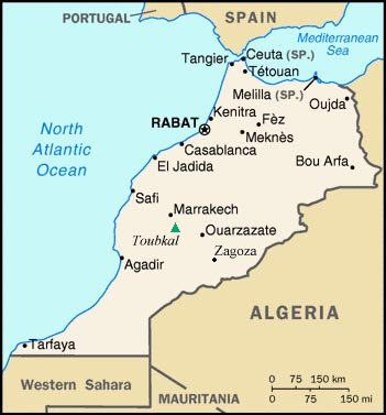 Rif Mountains Morocco Map Maps of Morocco, High Atlas, Rif Mountains and Marrakesh