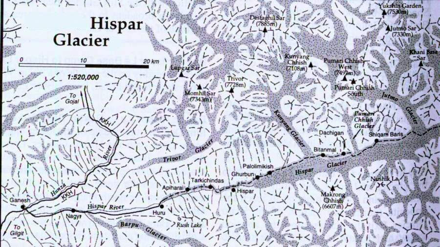 Map and photograph of the Hispar Glacier Region of the stan ... Karakorum On Map on yuan dynasty on map, vienna on map, khotan on map, delhi on map, kiev on map, timbuktu on map, la venta on map, malacca on map, paris on map, moscow on map, kunlun mountains on map, golden horde on map, tiwanaku on map, sigiriya on map, l'anse aux meadows on map, tanis on map, cahuachi on map, marco polo on map, seville on map, samarkand on map,