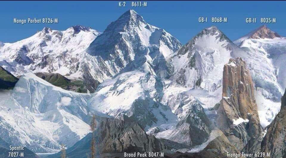 Photo Gallery Ascent Routes And Map Of Mount K2 The