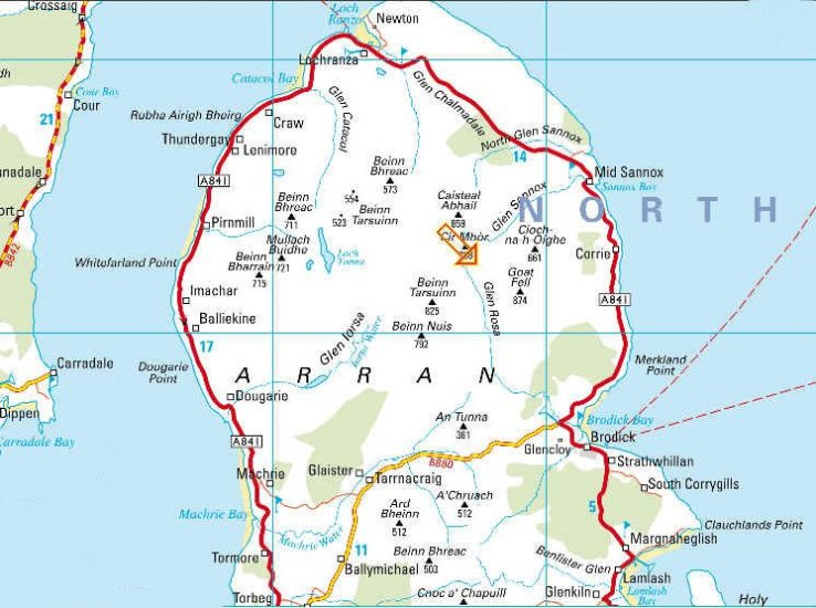 Map Of Arran Maps of the Island of Arran