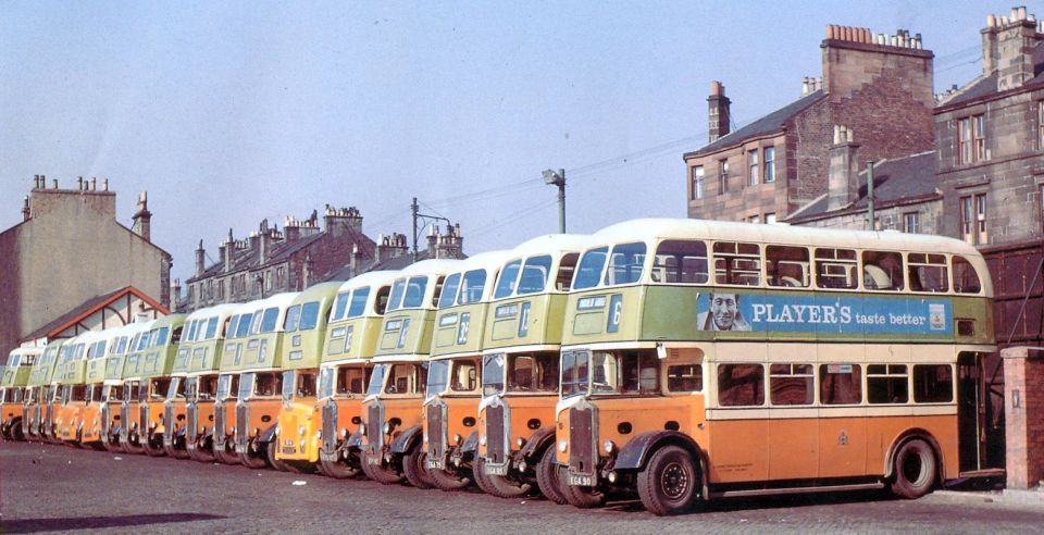 Photographs of buses formerly to be seen in the City of Glasgow