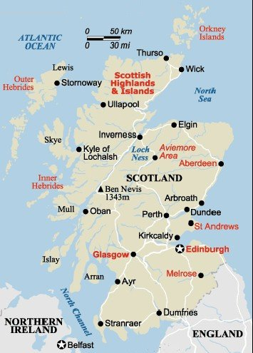 It is a photo of Printable Map of Scotland pertaining to children