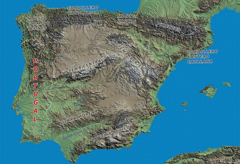 Map Of Spain Mountains.Maps Of Spain