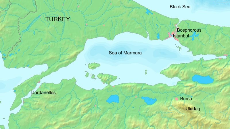 Maps Of Turkey Istanbul Marmara And Aegean Seas
