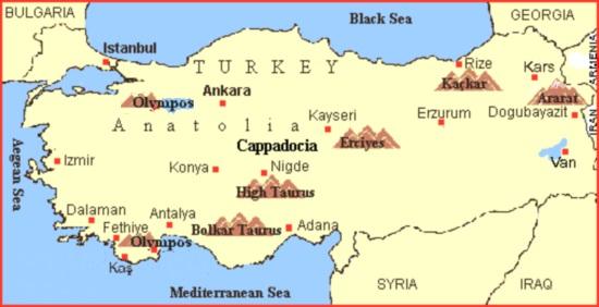 Maps of Turkey, Istanbul, Marmara and Aegean Seas