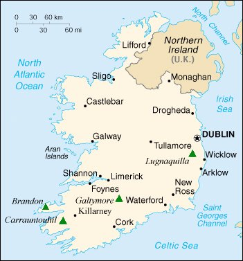 The Map Of Ireland.Maps Of Ireland And Dublin The Capital City