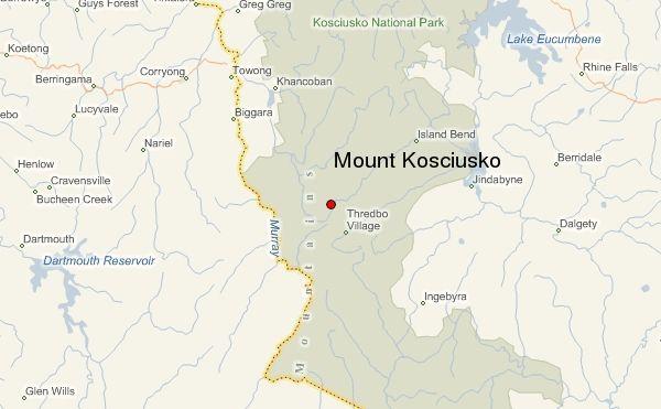 Map Of Australia Mt Kosciuszko.Photographs And Location Map Of Mount Kosciusko Kosciuszko In